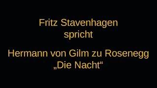 """Hermann von Gilm zu Rosenegg """"Die Nacht"""""""
