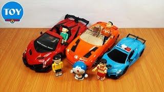 đồ chơi Doremon chế hài - cảnh sát Nobita bắt Chaien và Xeko thi đua xe điều khiển từ xa