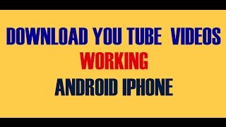 Youtube Downloader [How to save you tube video in your mobile phone]