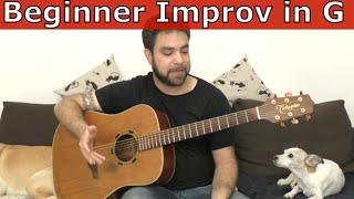 Fingerstyle Lesson: Beginner Improvisation in G - Guitar Tutorial w/ TAB
