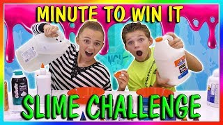 MINUTE TO WIN IT | SLIME EDITION | We Are The Davises