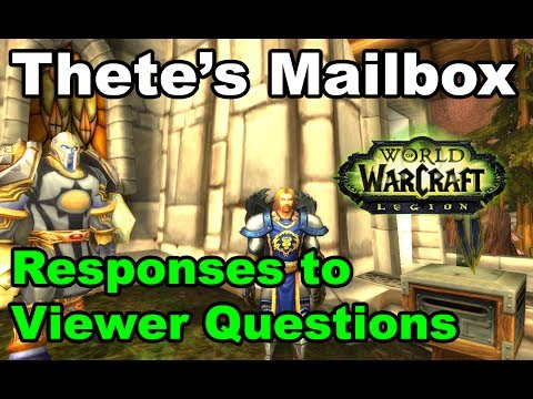 Thete Gaming Mailbox #1 - Viewer Questions
