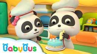 Fun Baby Panda Play & Learn Cake Cooking Colors Kids Game | Fun Kitchen Games For Children | BabyBus