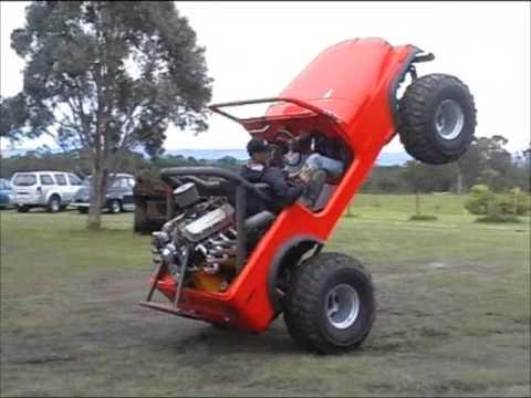 Wheelstanding jeep