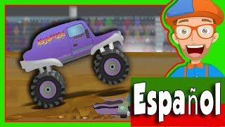 Camiones Monstruo para Niños con Blippi Español | Canción de los Camiones Montruo
