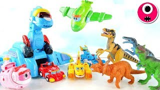 Angry Dinosaur Attack | Come on! Dinosaur Rescue Team Set Station- 공룡탐험대 고고다이노 시즌3 기지세트 장난감놀이