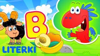 nauka literek dla dzieci ze Smokiem Edziem - litera B - literki dla dzieci po polsku