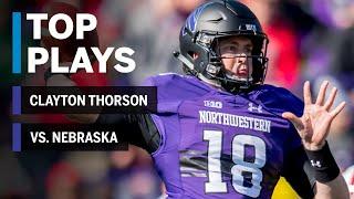 Top Plays: Clayton Thorson Highlights vs. Nebraska Cornhuskers | Northwestern | Big Ten Football