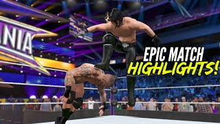 WWE 2K15 Wrestlemania 31 Seth Rollins vs Randy Orton | Epic Match Highlights!