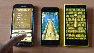 BATTERY TEST iPhone 5s vs Galaxy S4 vs Nokia Lumia 1020