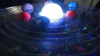 How to make 3D Solar System Project     Sistema solar giratorio paso a paso