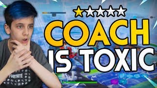 This Fortnite Coach is beyond Toxic..
