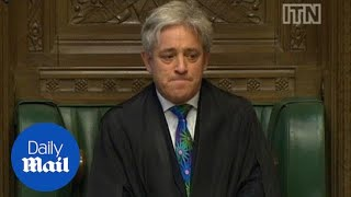 Commons Speaker close to tears after MPs defeat plot to oust him - Daily Mail