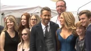 Ryan Reynolds makes Hollywood star ceremony a family affair