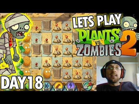 Plants vs. Zombies 2: Ancient Egypt Level 18: Plan Your Defense! (iOS Face Cam)
