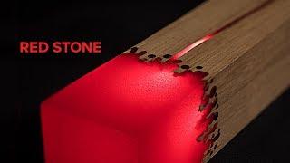 EPOXY L.E.D. LAMP. RED STONE   DIY  PROJECT