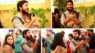 വിനീത് ശ്രീനിവാസനും മകൻ വിഹാനും സച്ചിൻ വാര്യരുടെ റിസപ്ഷന്  എത്തിയപോൾ | Vineeth Sreenivasan with Son