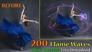 200 Flame Waves Photo Overlays Premium Pack Free Download | By StudioPk