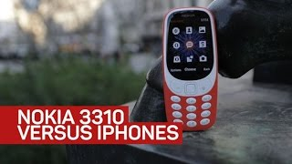Nokia 3310 vs. iPhone 7 in a real city battle