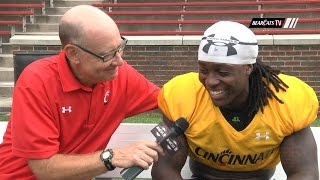 Hoard Talks Running Back Game with Bearcats' Junior Mike Boone