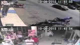 CCTV Merekam Aksi Baku Tembak POLISI VS PERAMPOK