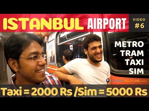 Istanbul Ataturk Airport ATM Tourist Sim Taxi & Metro Istanbul Airport to Sultan Ahmet