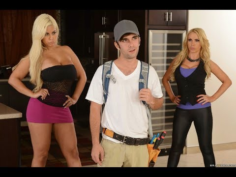 Nikki Benz And Bridgette B Invites Security Guy To Install Cameras At Home
