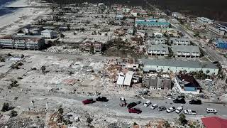 Hurricane Michael damage in Mexico Beach, Florida