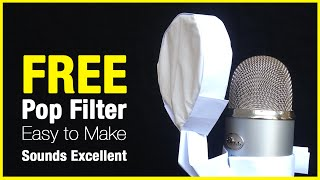 FREE DIY Microphone Pop Filter - Made Entirely Of Paper…
