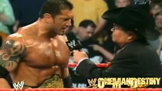WWE RAW(4/11/2005)Batista Celebration Interview