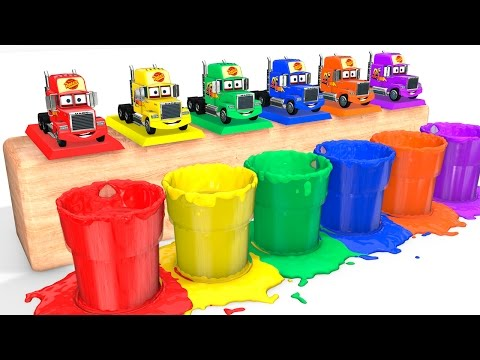 LEARN COLORS with Mack Truck for Babies - Cars Educational Video - Bus Superheroes for Kids