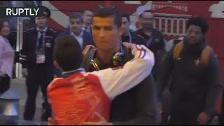 Dreams Come True: Ronaldo fan breaks through security to hug his hero