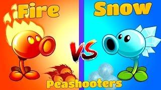 Plants vs Zombies 2 Snow vs Fire Peashooter