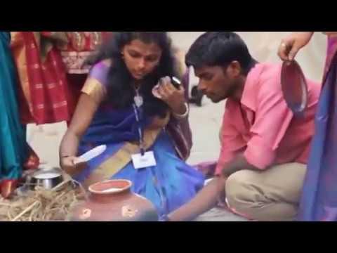 Pongal festival beautifull girls Tamil college function