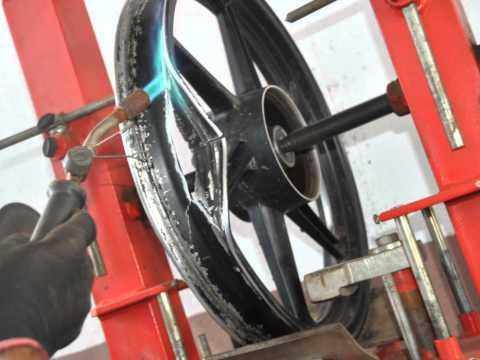 Recuperação de rodas de carro e moto e solda em aluminio