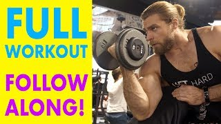 Full Body Dumbbell Routine (Entire Workout, Follow Along!) | Dumbbell Plan P2D3