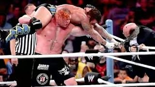 Brock Lesnar vs CM Punk   Beast vs the Best No Disqualification Brutal Match