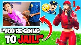 Arrested Prank on Teammates in Fortnite