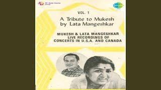 A Tribute To Mukesh By Lata Mangeshkar