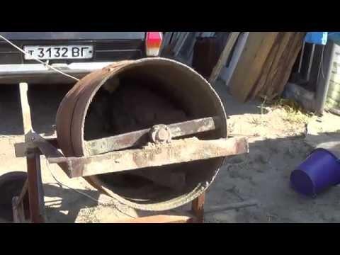Как сделать саман в бетономешалке