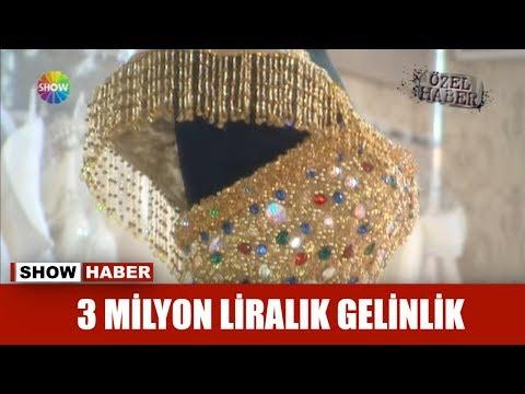 3 milyon liralık gelinlik!