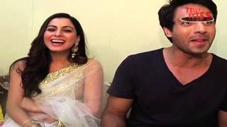 Anshuman and Pakhi's Laughter Therapy. From the sets of Tumhari Pakhi