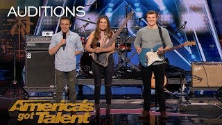We Three: Family Band Performs Song Tribute For Mother With Cancer - America's Got Talent 2018