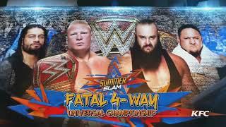 WWE - SummerSlam 2017 - Fatal 4 Way Match - Universal Championship - Highlights