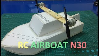 DIY RC Airboat with N30 Motor at Home