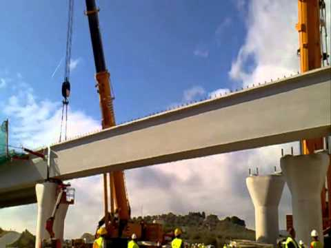 Grúas Rigar Elevación viga 120 toneladas.