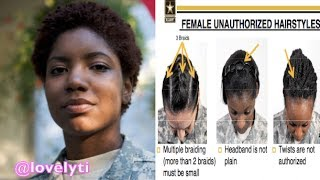 U.S. Army is facing criticism for new regulations that unfairly target black women's hair