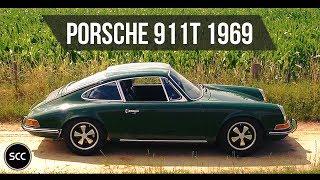 PORSCHE 911T 1969 - Full test drive in top gear - Engine sound   SCC TV