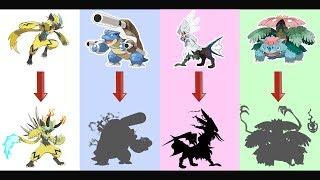 Zeraora, Mega Blastoise, Mega Venusaur, Silvally AS MONSTER.