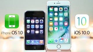 iPhone OS 1.0 vs iOS 10.0 - What